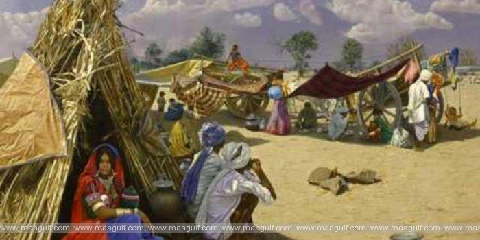 హైదరాబాద్:కుంచెతో ప్రాణం,కాన్వాస్ పై మరో ప్రపంచం..ఆకట్టుకున్న నర్సింహగౌడ్ పెయింటింగ్స్