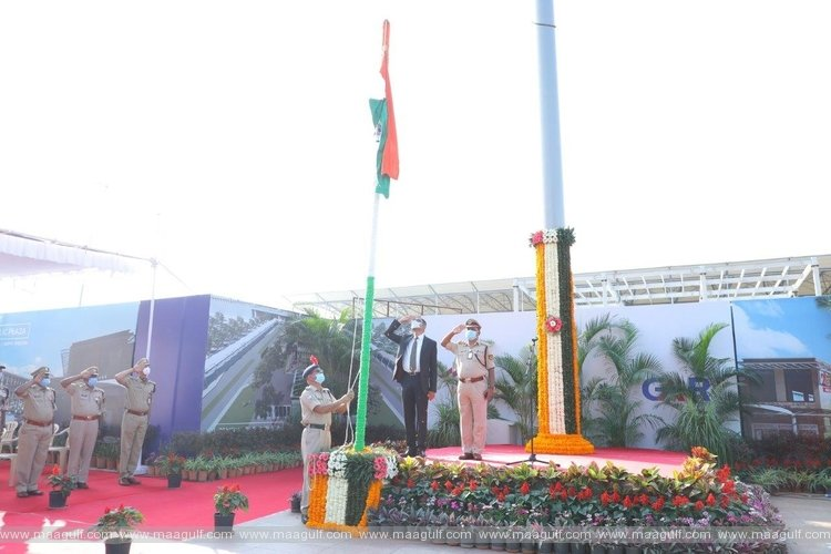 72th Republic Day celebrations in Hyderabad International Airport