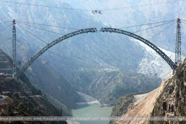 World\'s tallest Chenab rail arch bridge in Jammu & Kashmir set for completion