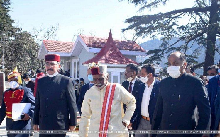 హిమాచల్ప్రదేశ్ గవర్నర్ దత్తాత్రేయను నెట్టేసిన కాంగ్రెస్ ఎమ్మెల్యేలు..!