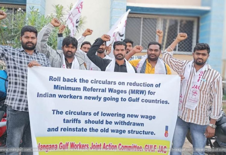 Chalo Delhi for repeal of circulars reducing minimum wages for Gulf workers
