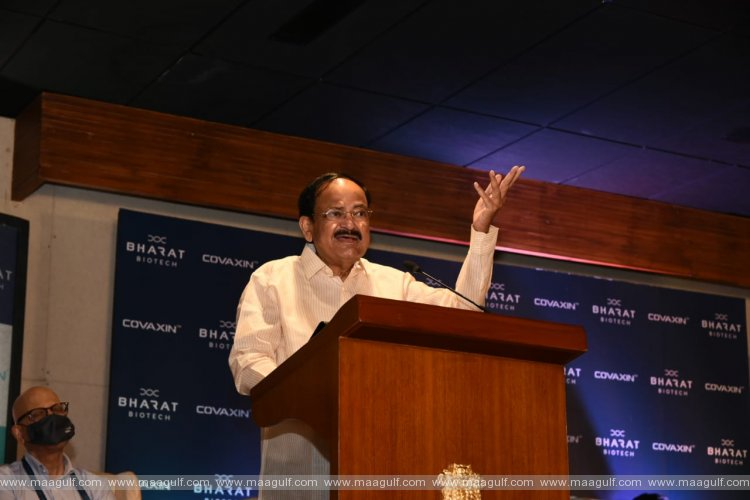 Vice President visits Bharat Biotech in Genome Valley, Hyderabad