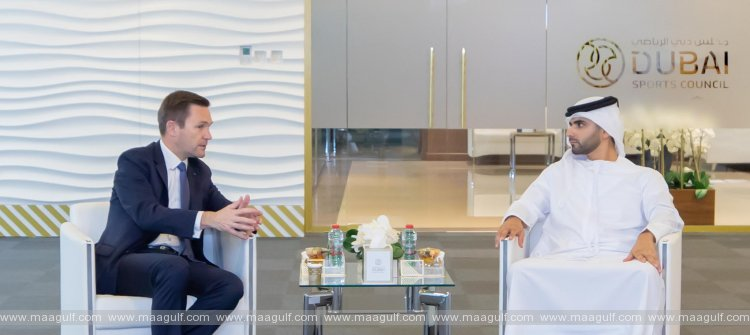Mansoor bin Mohammed meets President of International Cycling Union