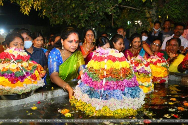 నిజామాబాద్ లో బతుకమ్మ సంబరాల్లో పాల్గొన్న కల్వకుంట్ల కవిత
