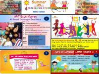Art of Living Summer Kids Courses