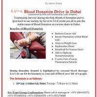 Blood Donation drive in Dubai