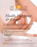 Art Of Living Health,Happiness,Energy programme