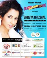 'Shreya Ghoshal Live In Concert' in Dubai