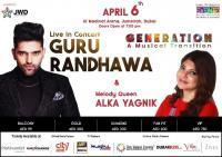 'Guru Randhwa' & 'Alka Yagnik' live in concert
