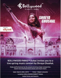 Shreya Goshal Live in Concert,Bollywood Parks,Dubai