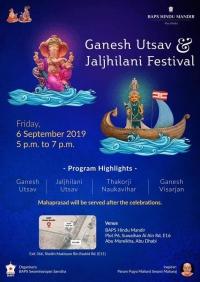 'Ganesh Utsav' & 'Jaljhilani festival' by 'BAPS Hindu Mandir'